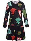 Women Girl Womens Christmas Pullover Flared A Line Dress