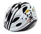 Cheap Panda Multi-sport Kid Helmet Children Child Toddler Outdoor Skate-boarding Cycling Helmet Safety Helmet Protective Gear Age 3-5 5-12 Boys Girls Adjustable Dial & Warning Tail Light (black-white)