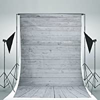 DODOING 5x7ft Photography Background Photo Backdrops Vinyl White Wood Floor Props for Studio