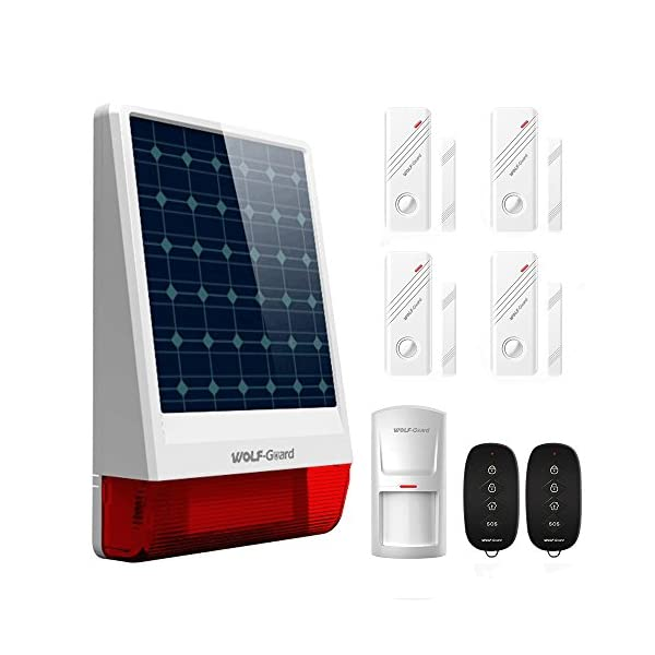 The Wolf-Guard Wireless LB-W06 Solar Burglar Alarm System