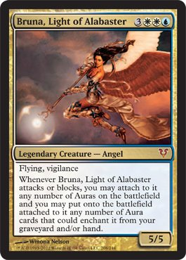 Magic: The Gathering - Bruna, Light of Alabaster (208) - Avacyn Restored