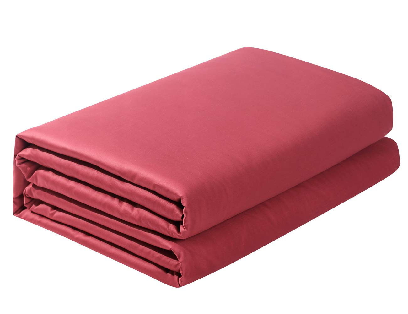 PHF Flat Sheet 300 Thread Count Satin 100/% Cotton Natural Soft Durable Breathable Pack of 1 Twin Size Red