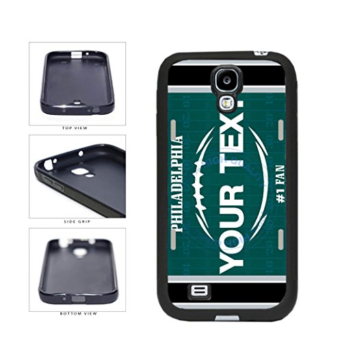 BleuReign(TM) Personalized Custom Name Football Philadelphia License Plate TPU RUBBER SILICONE Phone Case Back Cover For Samsung Galaxy S4