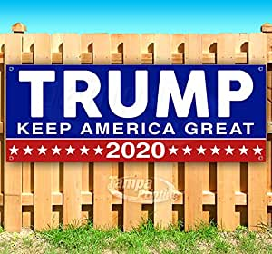 in New Condition for Advertising Promises Made Trump 2020 Promises Kept Banner is a 13 oz Premium Heavy Weight Vinyl Banner with Stiched Hem and Metal Grommets See Flags and Signs. or Display