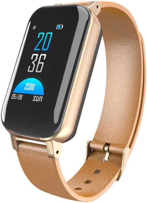 BYBYC Reloj Inteligente teléfono Android iOS, Reloj IP68 Impermeable con Monitor de Ritmo cardíaco, Contador de Pasos, Reloj podómetro, Reloj Inteligente para Hombres y Mujeres