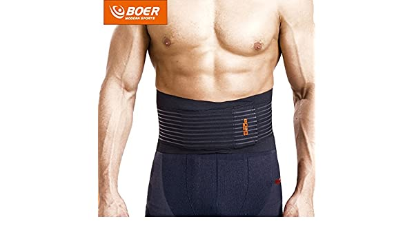 a7685aadc9 Amazon.com  BOER 7992 Fitness Trainer Body Shaper Waist Trimmer Tummy  Slimming Belt BLACK M  Beauty