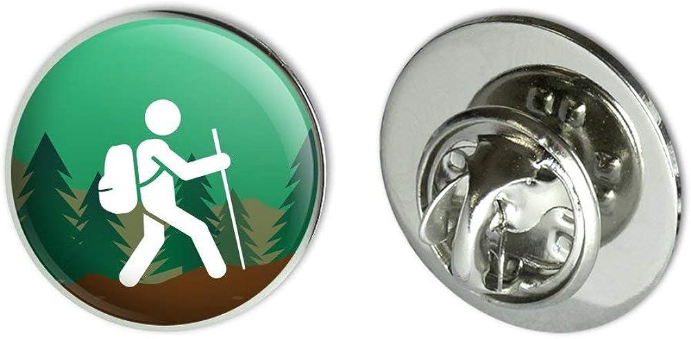 "GRAPHICS & MORE Hiker Hiking Symbol Mountain Nature Metal 0.75"" Lapel Hat Pin Tie Tack Pinback"