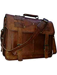 16 leather messenger bags for men women mens briefcase laptop bag best computer shoulder satchel school distressed...