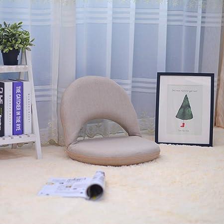 t/él/évision s/éminaires Lecture Couleur : Beige GHM Chaise de Camping Chaise de Plancher rembourr/ée avec Chaise de Loisirs de Meubles de Salle de s/éjour avec Dossier r/églable pour la m/éditation