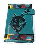 Passport Wallet (Native Wolf Teal)