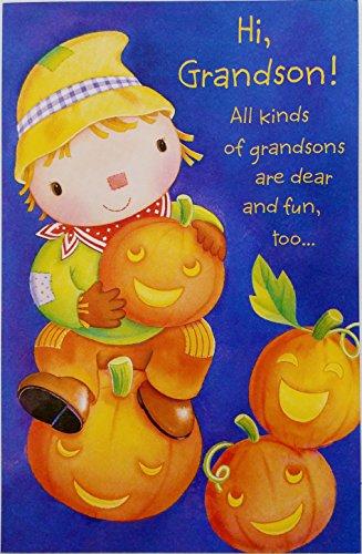 Happy Halloween Grandson Greeting Card -