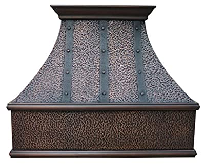 Copper Best H7 362130HT Copper Range Hood with Liner and Internal Motor 36 in.