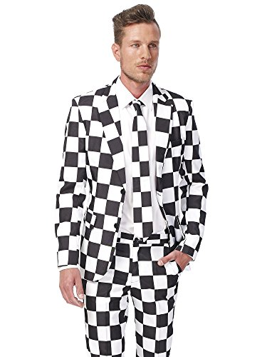 Suitmeister Halloween Costumes for Men – Checked Black White - Include Jacket Pants & Tie for $<!--$59.99-->