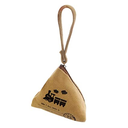 aeace489f7b2 Amazon.com: Joyfeel buy 1Piece Zipper Purse Khaki Pyramid Shape ...