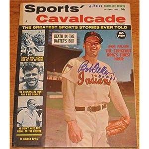 Bob Feller Autographed/Signed Sports Cavalcade Full Magazine JSA 78642