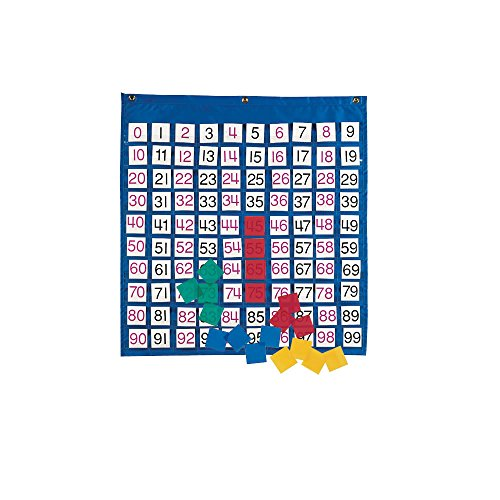 ETA hand2mind Pocket Chart with 100 Number - Chart Base