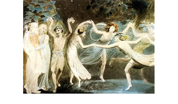 William Blake English Romanticist 2 Oberon Titania And Puck With ART