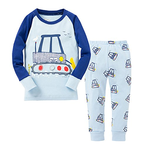 [VICVIK Baby and Little Boy Drivers Pajama Sets 2 Piece 100% Cotton Size 2-7T (6T, Blue)] (Car Wash Costume Ideas)