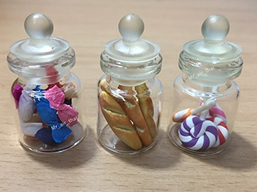 3pc Miniature Cake Food Candy Cookie Dollhouse Bread for sale  Delivered anywhere in USA