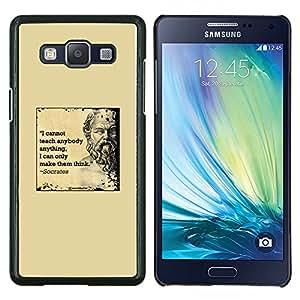 YiPhone /// Prima de resorte delgada de la cubierta del caso de Shell Armor - Cita de mármol amarillo Sócrates profunda inteligente - Samsung Galaxy A5 A5000