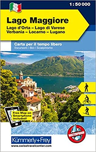 Italien Outdoorkarte 08 Lago Maggiore 1 50 000 Lago Di Varese
