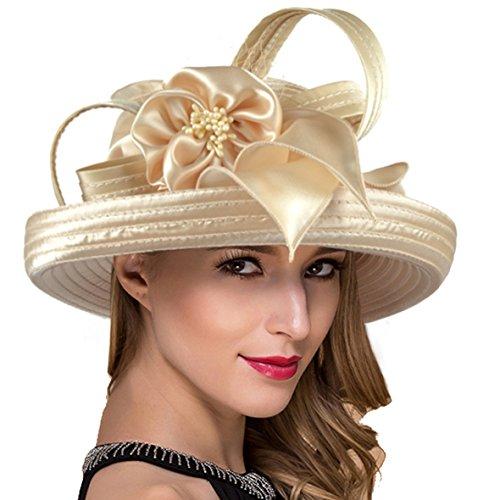 Lady Church Derby Dress Cloche Hat Fascinator Floral Tea Part Bucket Hat S051 (Womens Fashion Derby)