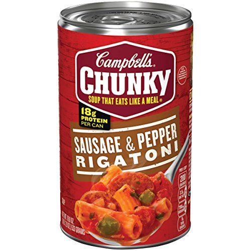 (Campbell's Chunky Sausage & Pepper Rigatoni Soup, 18.8 oz. Can (Pack of 12))