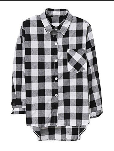 Sourcingmap - Camisas - para mujer negro/blanco