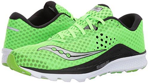 Saucony Mens Kinvara 8 Running Shoe, Slime Black, 12 UK/13 M US