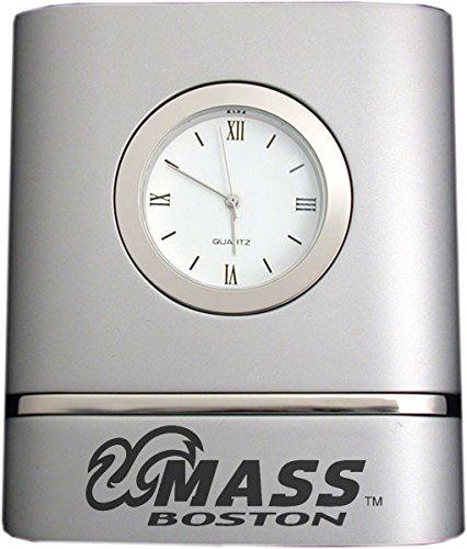 wo-Toned Desk Clock -Silver ()
