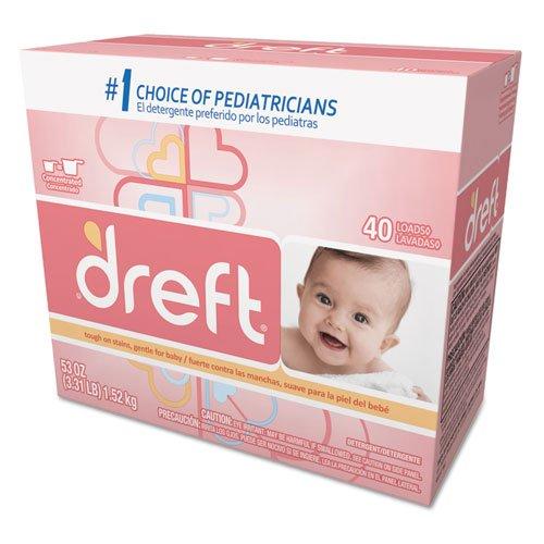 Dreft Ultra Powdered Laundry Detergent, Original Scent, 53 o