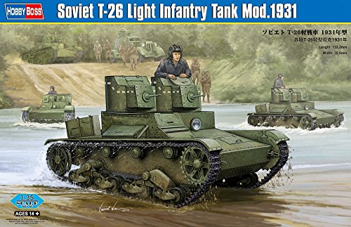 (Hobby Boss Soviet T-26 Light Infantry Tank Model 1931 Vehicle Model Building Kit)