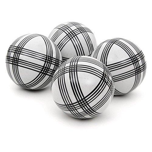 Oriental Furniture 4'' Black Stripes Porcelain Ball Set by ORIENTAL Furniture