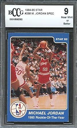 77ccd33a84faba Amazon.com  1984-85 star  288 MICHAEL JORDAN SPEC 1985 rookie of the ...