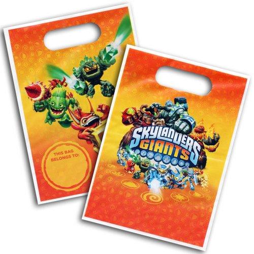 8 Skylanders Giants Video Game Party Plastic Gift Treat Loot Favor Bags .