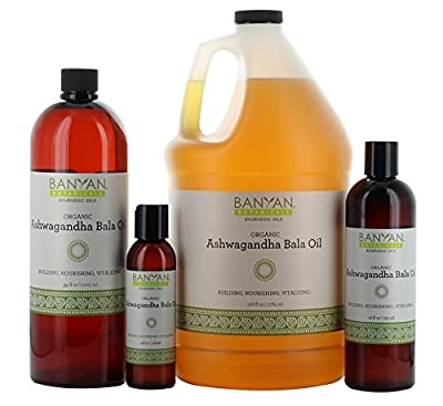 Banyan Botanicals Ashwagandha Bala Oil - USDA Organic - Building & Nourishing - Vitalizing Herbal Massage Oil for Muscles & Joints*