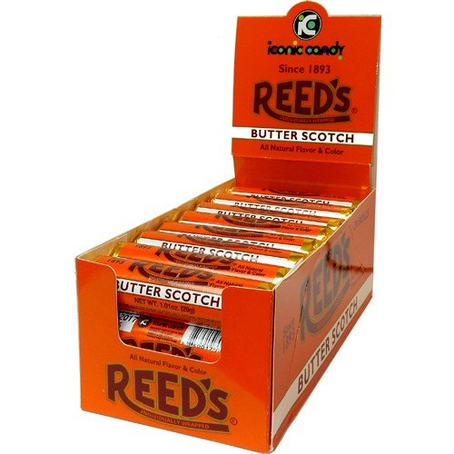Reed's Butterscotch Old-Fashioned Hard Candy 24ct Case