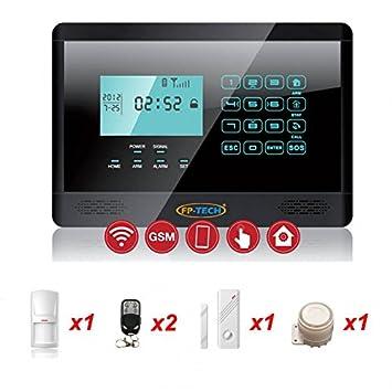 fp-Tech fp-yl007 m2e Alarma Wireless antirrobo, Negro ...