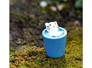 Jwlqay Draussen Drinnen Harz Miniatur Kleine Tiere Katze
