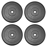 JLL Weight Plates 1' Vinyl Weigths for Dumbbell/Weight Lifting Bars - 5kg, 7.5kg, 10kg in Sets of 5kg, 10kg, 15kg, 20kg and 30kg (5kg x4 (20kg))
