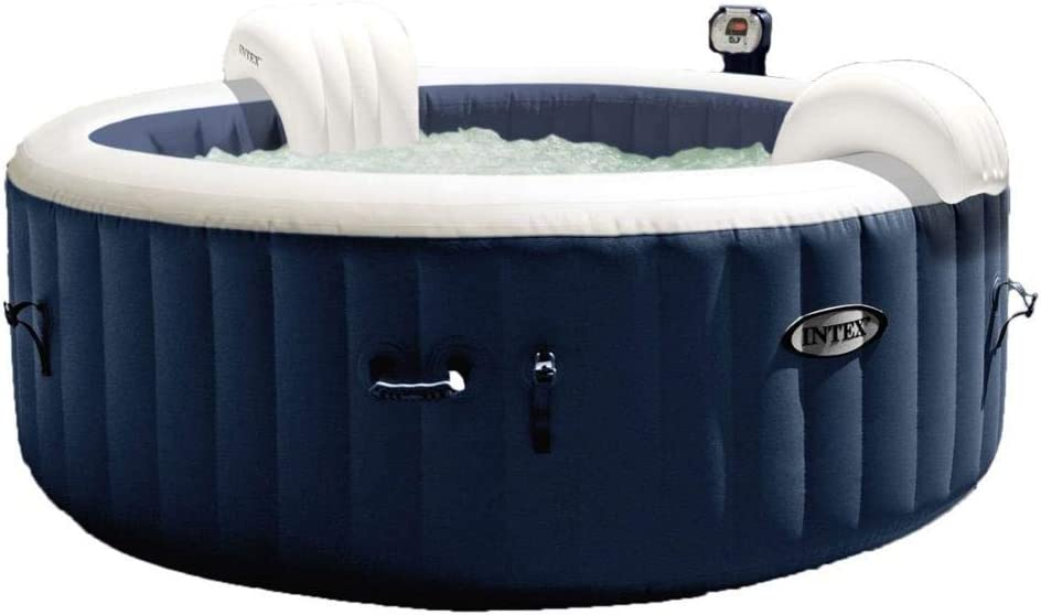 Intex Piscina SPA Hidromasaje Bubble Massage 196 x 71 cm 4 plazas de Exterior con Accesorios: Amazon.es: Jardín