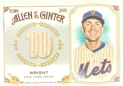 Autograph Warehouse 343717 David Wright Player Used Bat Patch Baseball Card - New York Mets 2015 Topps Allen & Ginters No. FSRB-DW