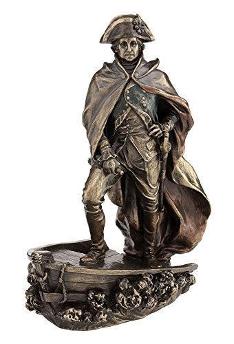 Bronze Finish George Washington Delaware Crossing Statue