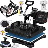 VEVOR Heat Press 12 X 15 Inch Heat Press Machine 5 in 1 Digital Multifunctional Sublimation Swing Away Heat Press 360 Degree Rotation Heat Press Machine for T Shirts Hat Mug Cap Plate