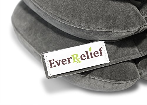 EverRelief Cervical Neck Traction Device FDA Registered ✮ Inflatable & Adjustable Neck Stretcher Collar for Home Traction Spine Alignment by EverRelief (Image #8)