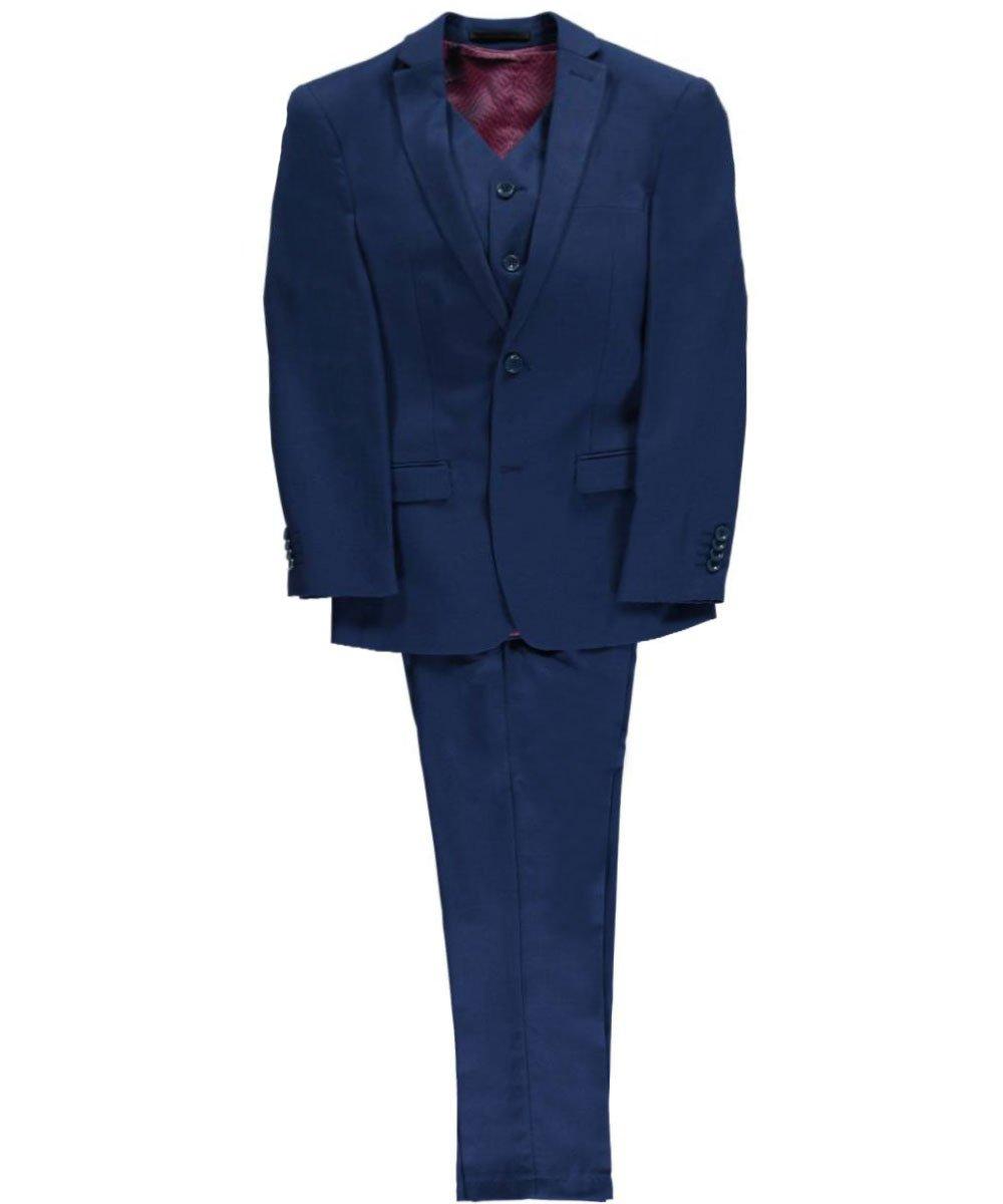 ISAAC MIZRAHI BIG BOYS S/B 2 PIECE WOOL BLEND SUIT (18, COBALT BLUE)