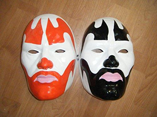WRESTLING MASKS UK Insane Clown Posse - Thermo Plastic- Universal Masks - Red And Black]()