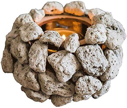 Piedra volcánica candelabro Viento Flor Arte Estilo decoración Decorativa jardín Patio café Ventana: Amazon.es: Hogar