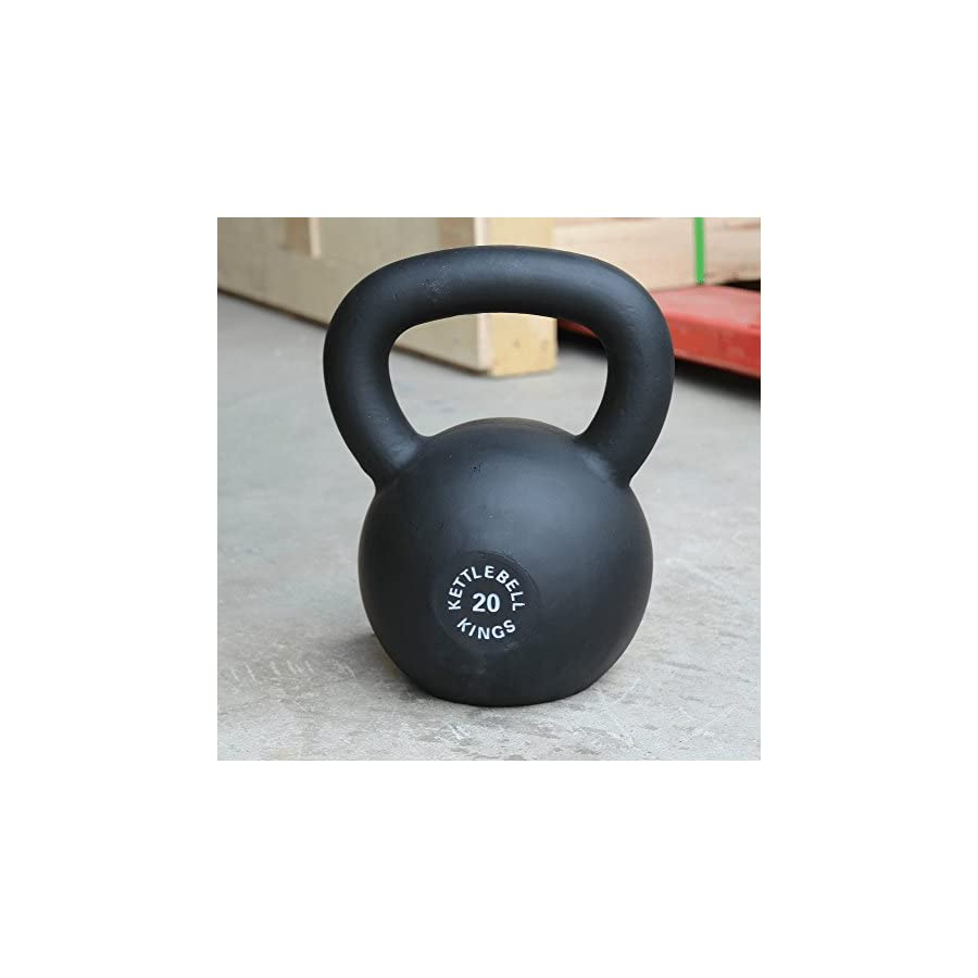 Kettlebell Kings | Cast Iron Kettlebell | Designed for Durability & Comfort During HIIT Workouts and Strength Training