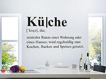 Klebeheld® Wandtattoo Küche Definition (Farbe Gold/Größe ...